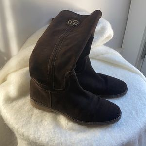 Tommy Hilfiger Knee High Brown Suede Boots